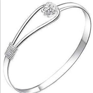 BRAND NEW ROSE .925 STERLING SILVER BANGLE